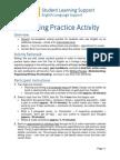 Writing Practice Activity
