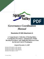 Spokane Valley Governance Manual