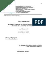 Grile Examen Notiuni de Farmacognozie 2013