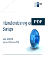 Existenz 2014 Internationalisierung Von Start Ups
