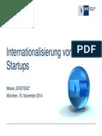 Existenz 2014 Internationalisierung Von Start Ups