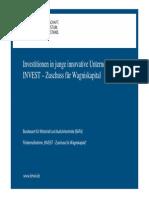 Existenz 2014 Invest Zuschuss Fuer Wagniskapital