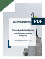 Existenz 2014 Minenfeld Umsatzsteuer Fehlervermeidung Und Praktische Erfahrunge