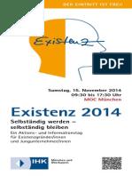 Existenz 2014 Programmflyer