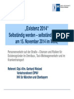 Existenz 2014 Qualifizierte Verkehrsunternehmer Fallen Nicht Vom Himmel 1. Pers