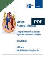 Existenz 2014 Start Ups Finanzieren Und Vernetzen