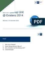 Existenz 2014 Unterstuetzung Der Ihk Start Up Unit Beim Aufbau Innovativer Grue