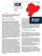 Rcd 2012 Ecuador. an Overview From the Redd Countries Database Web