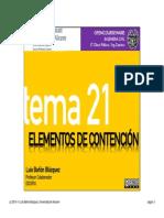 Tema 21 - Elementos de Contención