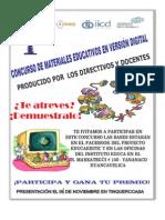 Afiche concurso materiales