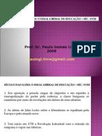 11855785 Seculo Das Luzes o Ideal Liberal de Educacao Sec Xviii Prof Dr Paulo Gomes Lima