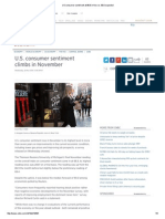 US Consumer Sentiment at 88.8 in Nov vs. 89