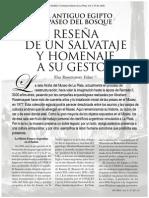 Rosenvasser. Egiptiología