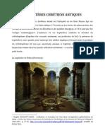 Baptistères chrétiens antiques