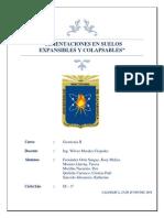 Cimentaciones en Suelos Expansibles y Colapsables - Informe