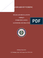 Texas Nursing Rules and Regulations