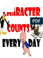 character counts every day