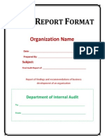 Audit Report Format
