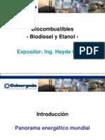 Biocombustibles - Biodiesel y Etanol
