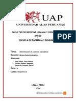 Determinacion de Proteinas Plasmaticas...