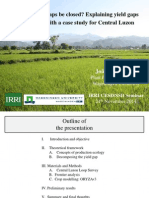 Can rice yield gaps be closed? A theoretical framework to explain yield gaps at farm level with a case study for Central Luzon, Philippines