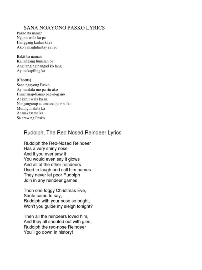 Sana sa pasko lyrics