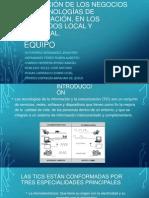 Evolución de Los Negocios de Tecnologías de Información