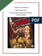 Evil Dead the Musical Cutting