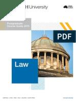 Monash Law Postgraduate Course Guide 2015