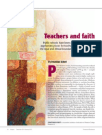 teachers and faith article