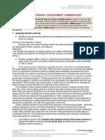 Weber EdTPA ELE LIT Assessment Commentary