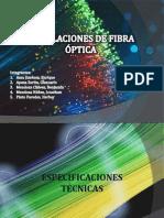 Instalaciones de Fibra Óptica
