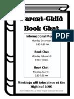 Parent Child Book Chat Flier 2014-2015