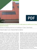 Sistema de elementos de protección solar para los edificios en Cuba. Estudio de caso.