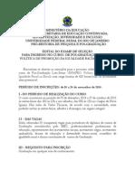 2014 Aprovado Edital Uniafro 2014
