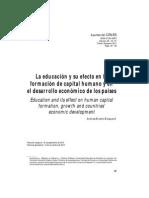 Briceño Mosquera, A. (2010) La Educación y Su Efecto en La Formación de Capital Humano y en El Desarrollo Económico de Los Países