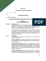 Ley 737 Ley de Contrataciones Administrativas Sector Público
