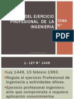 Ley Del Ejercicio Profesional de La Ingenieria