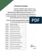 Pago Becas Monitorias ISem 2014