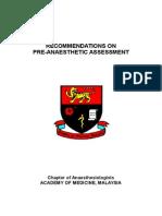 Preanaesthetic Assessment