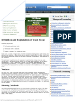 Cash Book - Definition, Explanation and Format of Cash Book