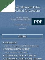Ultrasonic Pulse Velocity Gonzalo Cetrangolo