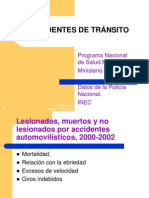 Accidentes de Tránsito, 2000-2002