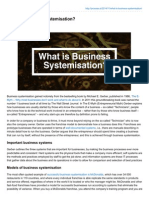 What is Business Systemisation