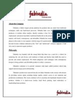 Fabindia Merchandising Project