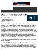 What About the Supreme Court by Bartolome C. Fernandez Jr.