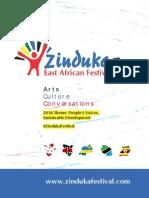 Zinduka Festival 2014 Final Programme-updated