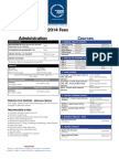 Dominion Fees Timetable 2014