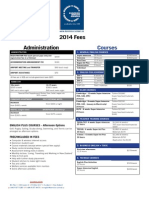Dominion Fees Timetable 2014