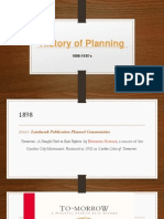 History of Planning 1898-1930